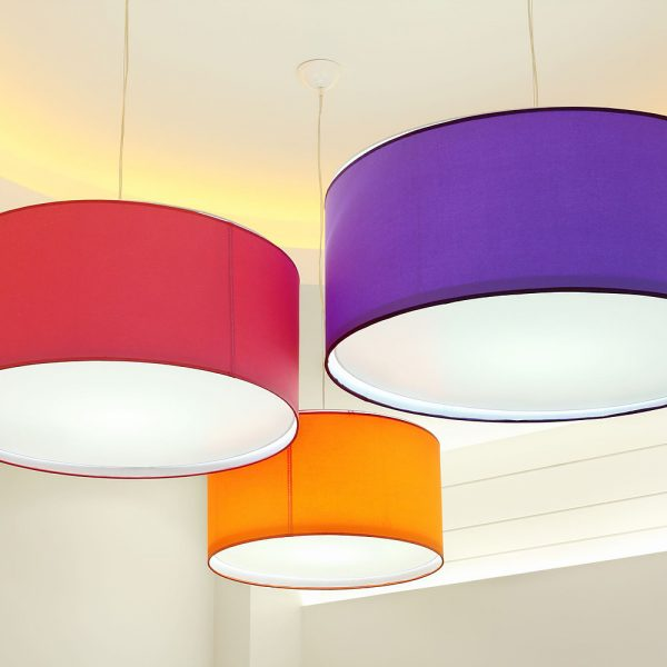 Colorful Drum Pendant Lights2