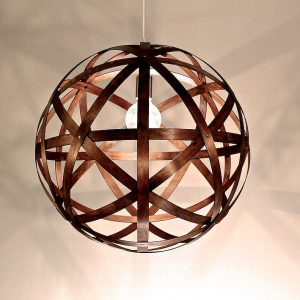 Timber Pendant Light Bali Ball 550mm