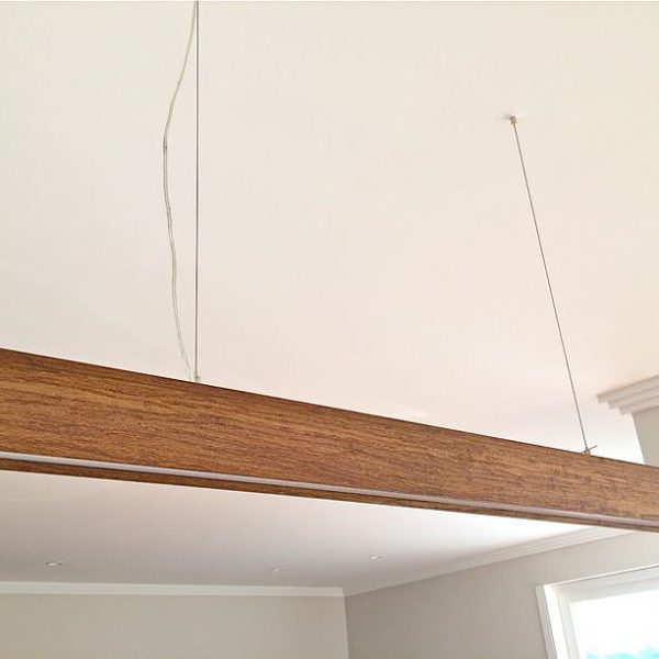 Timber Pendant - Linear Light Beam T 1.2m2