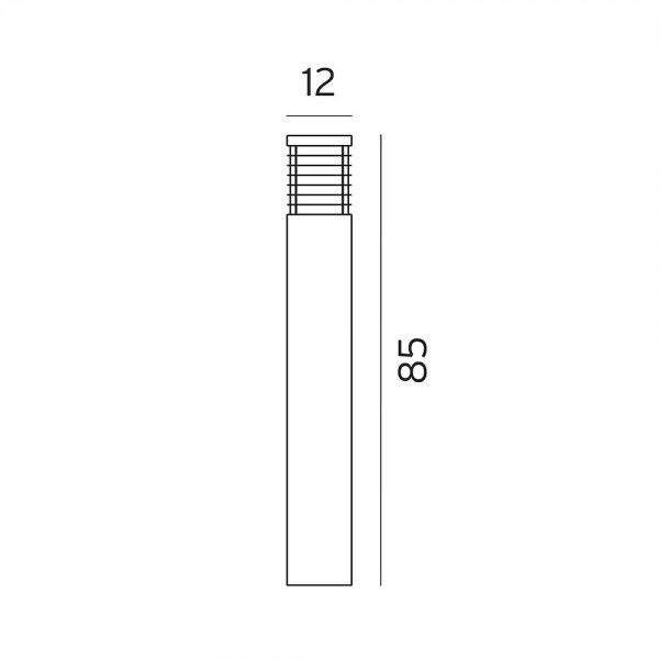 glx-bollard tokyo tall galvanised 4