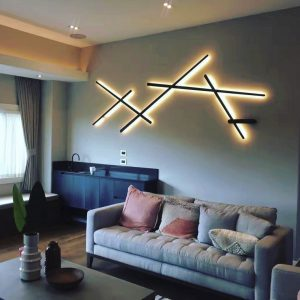 led wall lights in living area