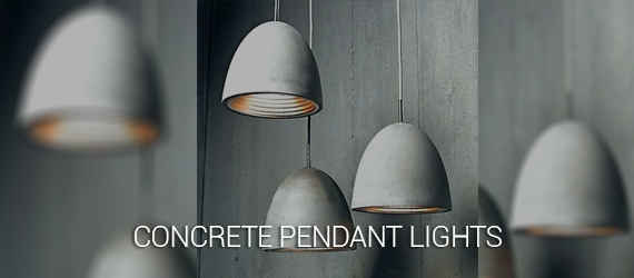 concrete dome pendant lights